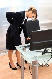 Businesswoman Having Back Pain